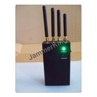 Portable Black color 4 bands cell phone jammer