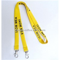 2015 hot sell high quality lanyard with 2 metal hook