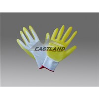 Yellow PVC Palm  Coated Safety Gloves