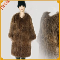2015 winter white raccoon fur adult suitable JXfur Brand coats women's charming raccoon fur coats