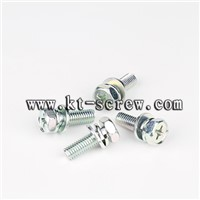 Steel blue zinc plated high power terminal combination screw