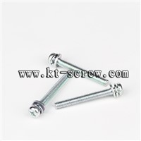 Steel blue zinc plated longer SEMS screw