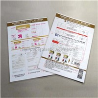 A4 size Printed Plastic Sealed Page Color for Milk product