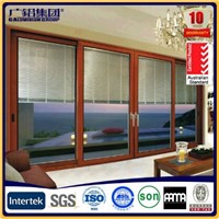 Aluminum Heavy and Smoothly Sliding Door with Automatic Shutter