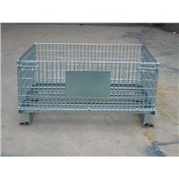 Collapsible folding steel storage cage