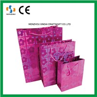 Pink paper bag,luxury brands paper bag,shopping bag