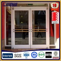 Aluminium Big Frame Spring Door for Shop and Restaurant