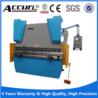 Anhui Accurl hydraulic press brake 400T / 4000 with CE certificate