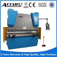 NC control China hydraulic bending machine for metal