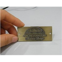 antique-brass metal labels for furniture with holes