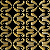 Natural Stone Gold leaf 3D Luxury Wall Panels
