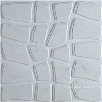 3D white feature stone wall art panels