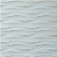 3D wavy interior stone wall design
