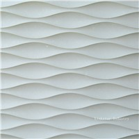 3D wavy stone wall art tile pattern