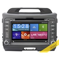 Capacitive Touch Screen Car DVD Player for KIA Sportage with 3G/WIFI/DVR/Mirror Link Function
