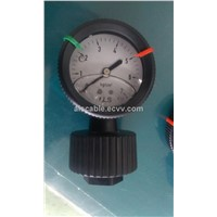 Oil Filled 2.5 Inch PP Diaphragm Pressure Gauge