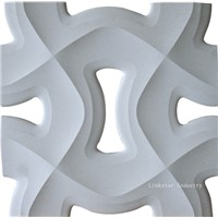 3D Artistic Carved Stone Wall Relief Tile