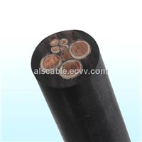 Silicon Rubber and Flame Retardant Flat Power Cable