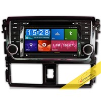 Capacitive Touch Screen Car DVD Player for TOYOTA Vios2014 with 3G/WIFI/DVR/Mirror Link Function