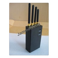 Portable Black color 4 bands cell phone jammers
