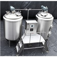 two tanks type steam heated brewery equipment