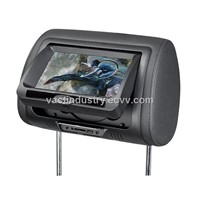 "7""car headrest dvd monitor with usb/sd/fm/ir/wireless game/zipper cover"