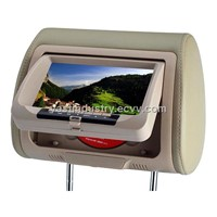 "7""Car Headrest DVD monitor Player with USB/SD/IR/FM/Wireless Game(HY-755D)"
