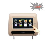 (HD1080p MP5+HDMI)7inch touch sceen car headrest monitor dvd with usb sd fm ir  (HY-766HD)