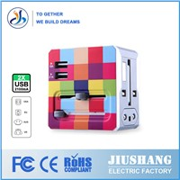 Patent design Universal travel adapter with usb charger,promotional adapter ,usb travel adapter