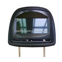 Touch button headrest monitor with usb sd fm ir 800x480 resolution (HY-739AV)