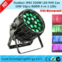 18pcs*10W Zoom LED Par light waterproof LED Par Cans,LED Stage lighting