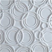3D white interior feature wall stone panel