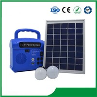 LED Solar Lighting System 10W with Phone Charger, FM Radio and MP3 Selective for Cheap Sale