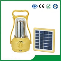 High Bright LED Solar Camping Lantern with 35PCS LED Light & Phone Charger for Hot Sale