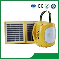 Best Selling Solar Lantern with Mobile Phone Charger / 2PCS Solar Panel / 9PCS LED Lights