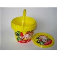 Food Bucket with In Mould Label Printing ,Any Color
