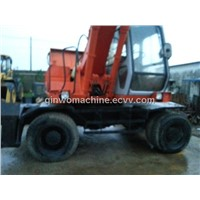 Hitachi used wheel tire digger/excavator (EX160WD)