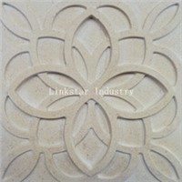 3D beige feature stone wall art tile