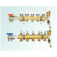 5-Way Brass Manifold Set for Floor Heating System