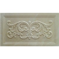 3d natural beige stone carved feature panel