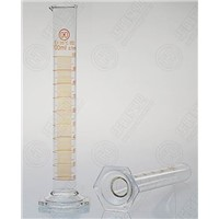 1601H Measuring Cylinder with spout and graduations Hexagonal Base Glass Cylinder