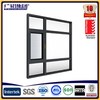 Aluminium new winder casement window with fixed fly screen
