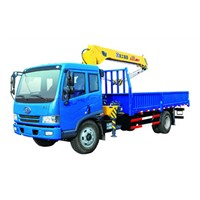 Hydraulic System Telescopic Boom Truck Mounted Crane with 6300kg Lifting Capacity