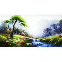 hand painted Europe landscape oil painting
