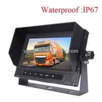 waterproof 7inch car rear view monitor with 4 channels 800x480 resolution (HY-W755)