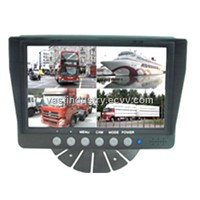 12V-32V 7inch car lcd monitor with 800x480 4 channels input (HY-700)