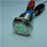 19mm Anti-Vandel Vandel Resistant Vandel Proof Metal Push on Switch with 24v LED Lighting