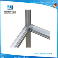 Aluminum alloy pipe joint for pipe rack system AL-1