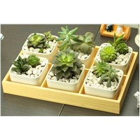 Flower Wooden Trays