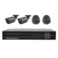 CCTV Best 720P Real Time AHD DVR Kit / 4pcs IR Waterproof Bullet and Dome Cameras